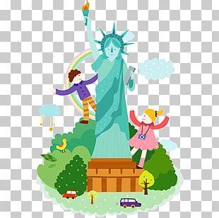 Statue Of Liberty Cartoon Illustration PNG