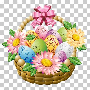 Egg In The Basket Easter Egg PNG