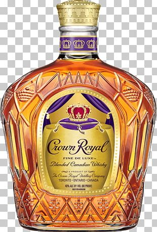 Crown Royal Blended Whiskey Caramel Apple Distilled Beverage PNG