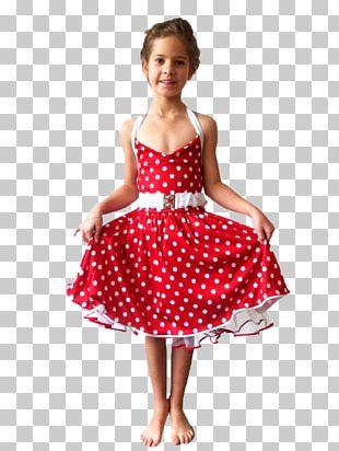 Polka Dot Dance Costume Skirt Dress PNG