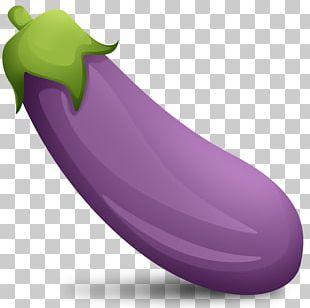 Baba Ghanoush Emoji Eggplant Sticker Telegram PNG
