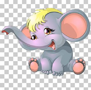 Cartoon Elephant Drawing PNG
