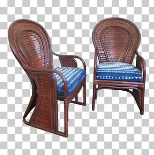 Chair Garden Furniture Wicker Wood PNG