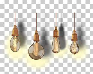 Incandescent Light Bulb Euclidean Lamp PNG
