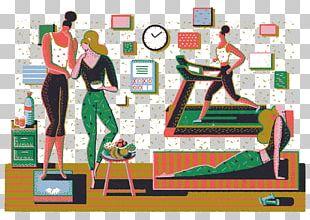Adobe Illustrator Behance Running Illustration PNG