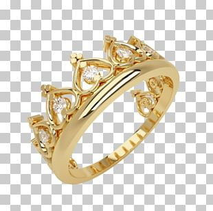Engagement Ring Crown Diamond Cubic Zirconia PNG
