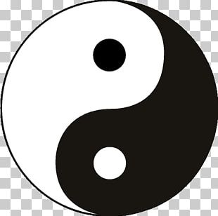Yin And Yang Symbol Taoism Taijitu Chinese Philosophy PNG