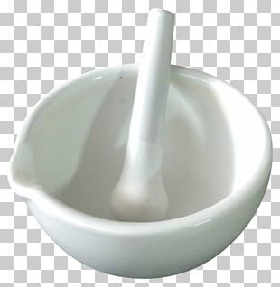 Mortar And Pestle Laboratory Glassware Echipament De Laborator Tableware PNG
