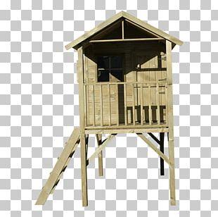 Wood Garden Tree House Swing PNG