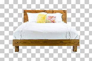 Table Bed Frame Mid-century Modern Platform Bed PNG