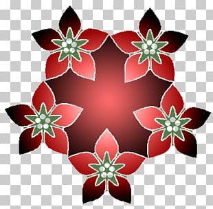 Petal Christmas Ornament Floral Design Symmetry Pattern PNG
