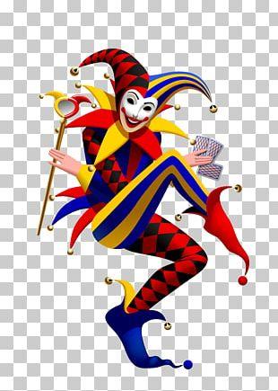 Joker Playing Card Suit Spades PNG