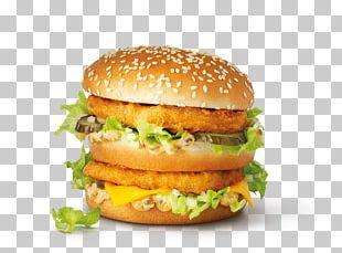 McDonald's Big Mac Hamburger Fast Food Cheeseburger Veggie Burger PNG