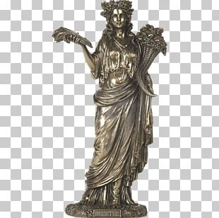 Demeter Statue Ancient Greece Greek Mythology Goddess PNG