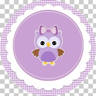 Little Owl Baby Shower Cupcake Label PNG