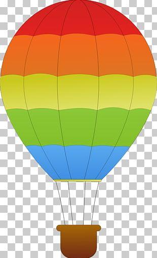 Hot Air Balloon Cartoon Drawing PNG