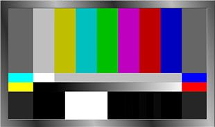 SMPTE Color Bars Color Television Television Show PNG
