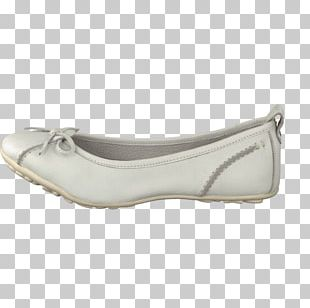 White Ballet Flat Shoe Hush Puppies Leather PNG