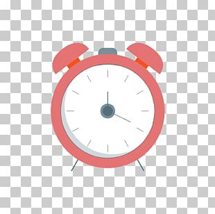 Alarm Clock Euclidean Alarm Device Red PNG