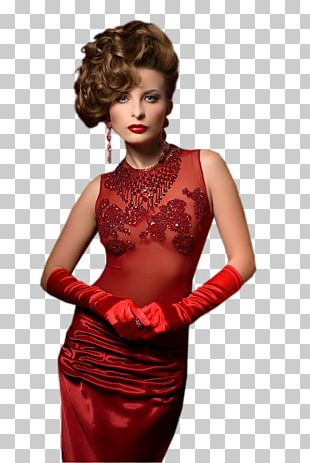 Happy New Year Woman Ball Red PNG