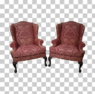 Wing Chair Chaise Longue Couch Dining Room PNG