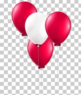 Balloon White Red PNG