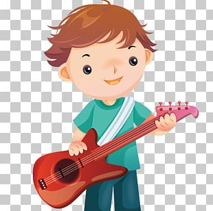Guitar Cartoon Musical Instrument PNG