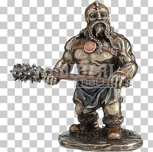 Statue Figurine Warrior Viking Sculpture PNG
