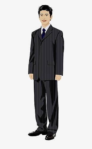 Cartoon Man Standing PNG