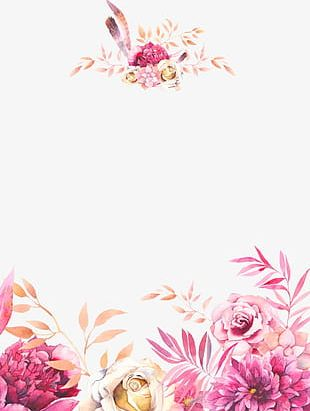 Watercolor Hand-painted Flowers PNG