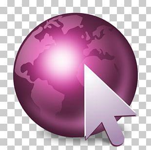 Pink Purple Globe Sphere PNG