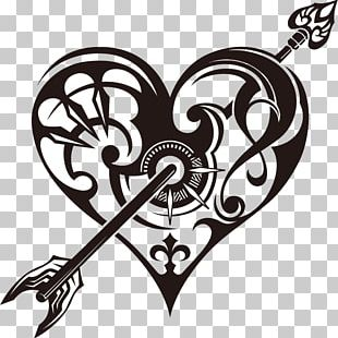 Tattoo Heart Drawing PNG