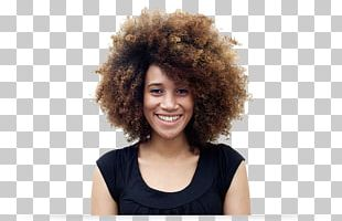 Smile African American Black Woman Afro PNG