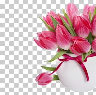 Flower Bouquet Tulip Pink Flowers Rose PNG
