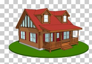House Plan Cottage Log Cabin Prefabricated Home PNG