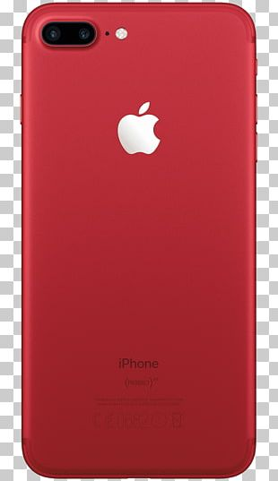 Apple IPhone 7 Plus Product Red Telephone PNG