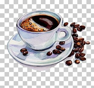 Coffee Tea Cafe Watercolor Painting Drawing PNG