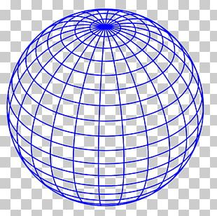 Globe Wire-frame Model PNG