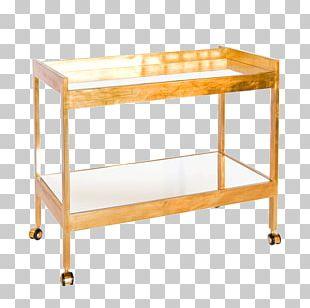 Gold Leaf Table Mirror Shelf PNG