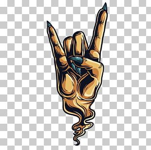 Sign Of The Horns Devil Hand Gesture Sticker PNG