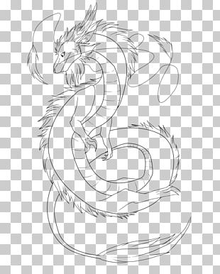 Line Art Chinese Dragon Drawing China PNG