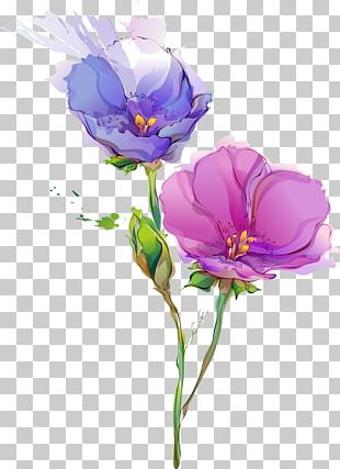 Flower Paper Painting Art PNG