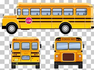 School Bus Student PNG