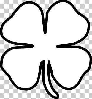 Four-leaf Clover Black And White PNG