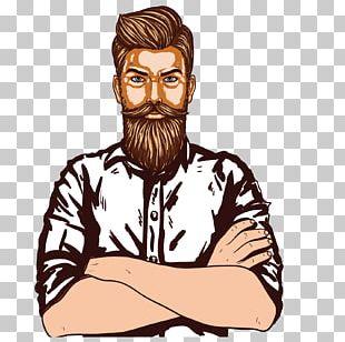 Beard Man Page Designer PNG