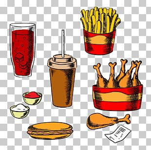 French Fries Fast Food Hamburger Fried Chicken Take-out PNG