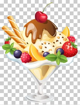 Sundae Ice Cream Cones Banana Split Chocolate Ice Cream PNG