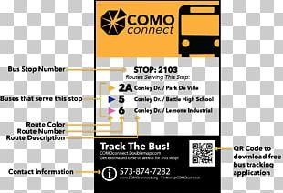 Bus Stop Columbia COMO Connect Ligne De Bus PNG