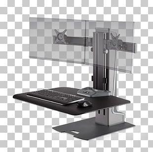 Sit-stand Desk Standing Desk Workstation Monitor Mount PNG