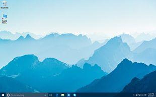 Desktop Mountain Range Display Resolution High-definition Television PNG